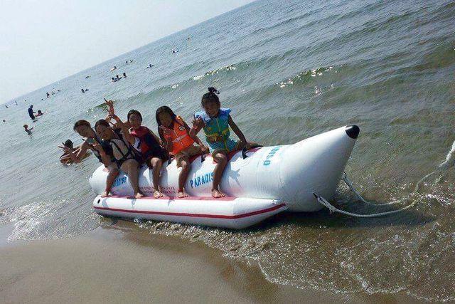【新潟・新発田・バナナボート】水上を駆けめぐる爽快感を味わおう!バナナボート