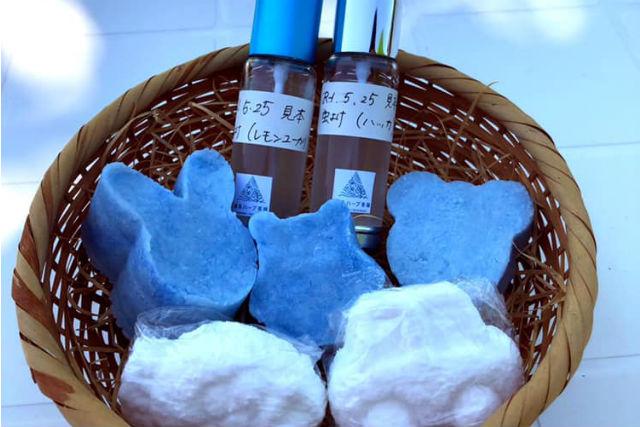 【新潟・魚沼・手作り雑貨】お好きな香りでリフレッシュ!入浴剤作り(1個)