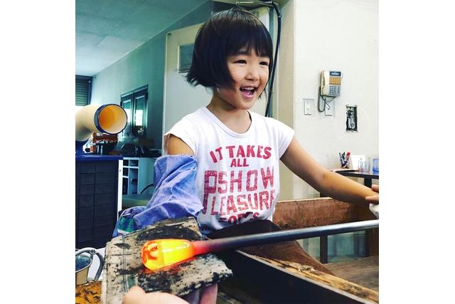 【愛媛・松野・吹きガラス体験】キレイなガラスで作る、コップまたは一輪挿し(1個)