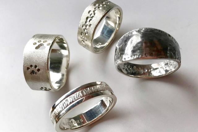 【新潟・上越・手作り指輪】お好きなデザインでリング幅のあるボリュームリング制作