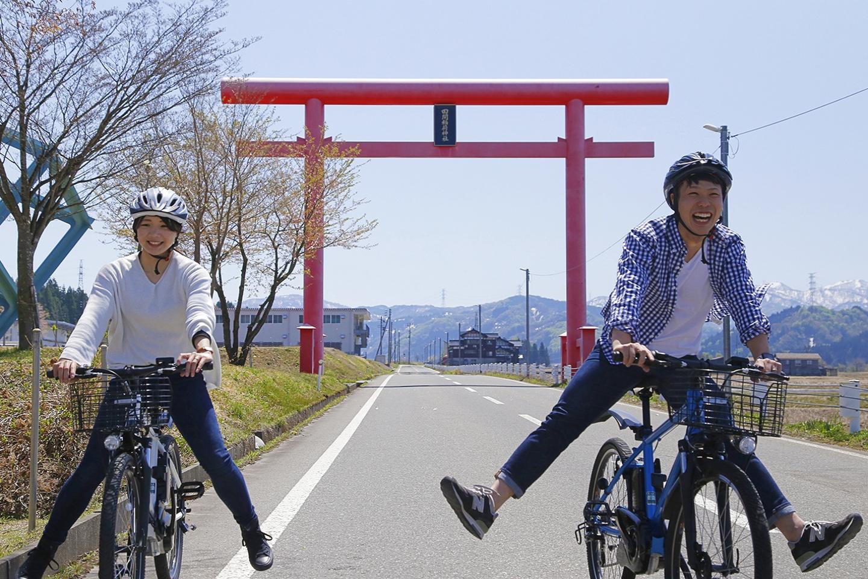 【新潟・松代・レンタサイクル】おしゃれな電動自転車で里山を快走!松代集合プラン