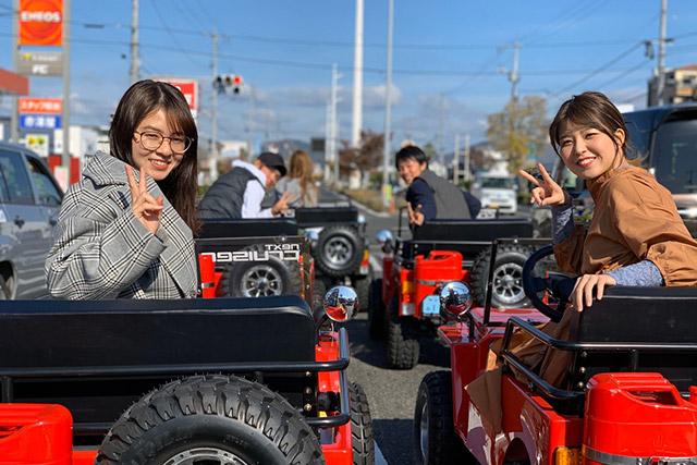 【2.5%還元】【岡山・倉敷・ゴーカート】気軽にちょい乗り体験!ミニジープ60分ドライブコース【1名から予約可能】