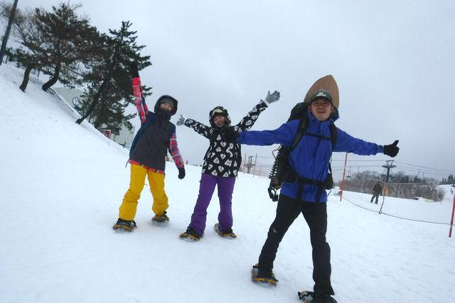 【2.5%還元】【滋賀・高島・雪遊び】新しい雪遊び!ハンドメイド「雪板」で滑走&スノーシュー【2名から予約可能】