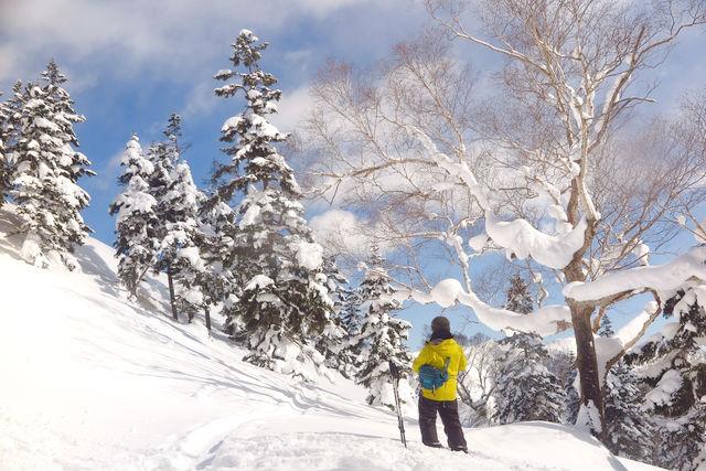 雪深いフィールドはどこを見ても非日常ですね