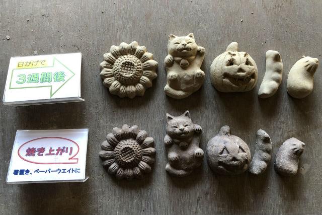 【新潟・阿賀野・手びねり】オリジナルの焼き物を作ろう!瓦粘土モチーフ1~10個
