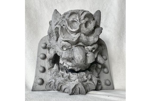 【2.5%還元】【愛知・高浜・伝統工芸】稀少な女性鬼師と一緒に本格的鬼瓦作り!全高30cmの本鬼面鬼瓦(1個)【1名から予約可能】