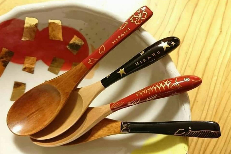 【新潟県・新潟市・伝統工芸】スプーンに自由に絵付けしよう♪楽しく蒔絵体験(1個)