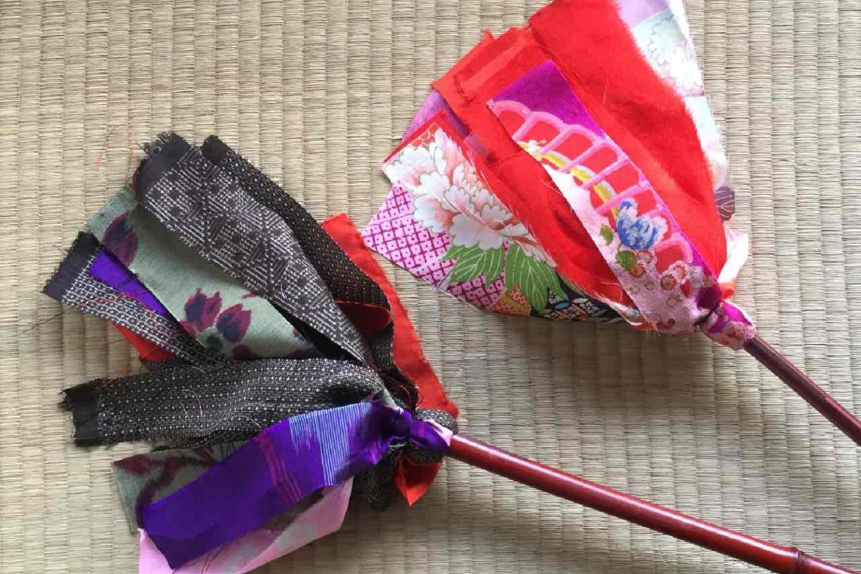 【岡山・瀬戸内市・手作り雑貨】昭和レトロなハタキを作って昔のお掃除体験