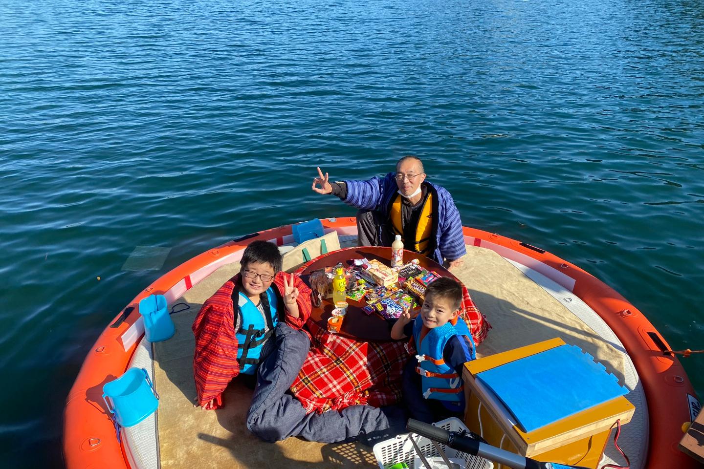 【2.5%還元】【兵庫・淡路島・レンタルボート】空と海に囲まれほっこりこたつ時間!海上こたつ体験【2名から予約可能】