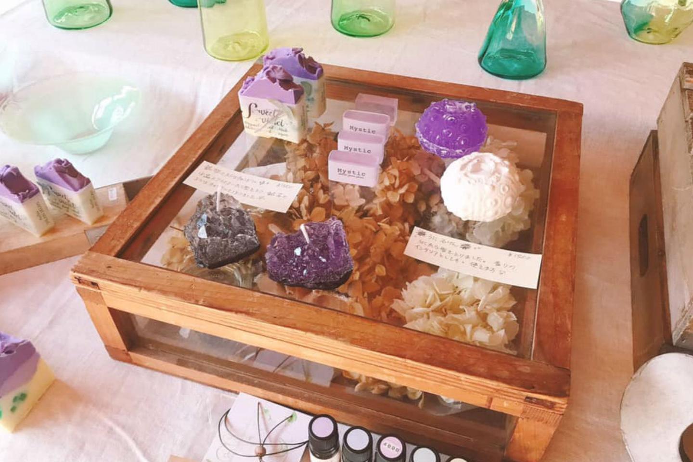 【岡山県・瀬戸内市・手作り石鹸】ドリンク付き♪食べられる素材で作る牛窓をイメージした石鹸と 天然アロマコスメ