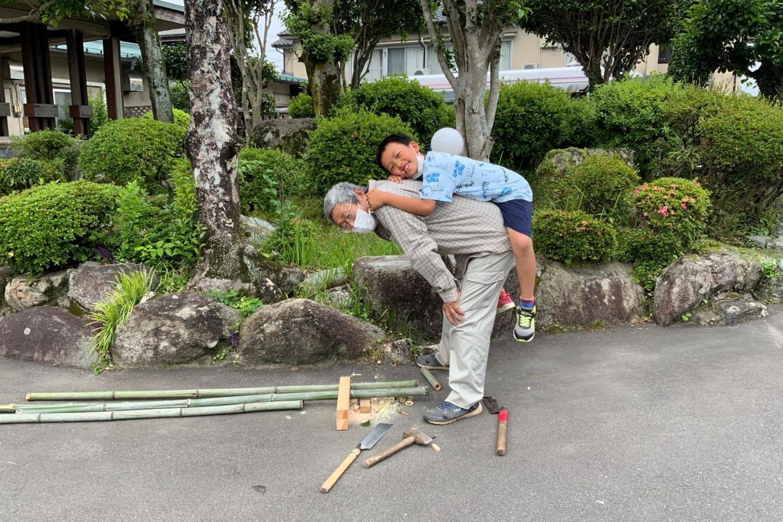 【佐賀・小城・昔の遊び】昭和の遊び「竹馬」を作ってみよう!(1個)