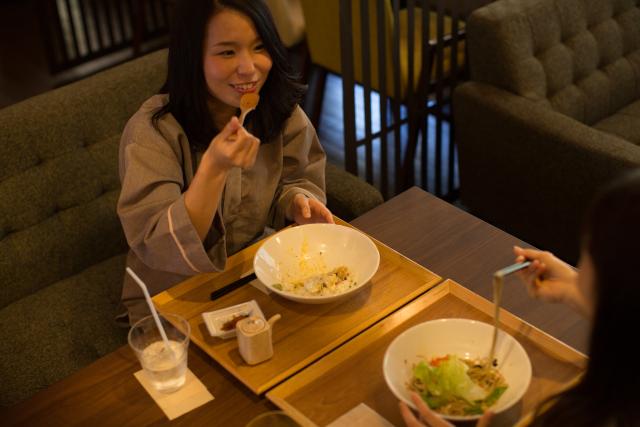 【平日・560円割引】おふろcafe bijinyu クーポン(フリータイム入館+選べるお食事)
