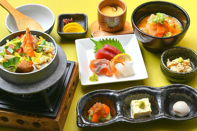 【平日・500円割引】源氏の湯 クーポン(入浴+タオルセット+季節の釜めし御膳)