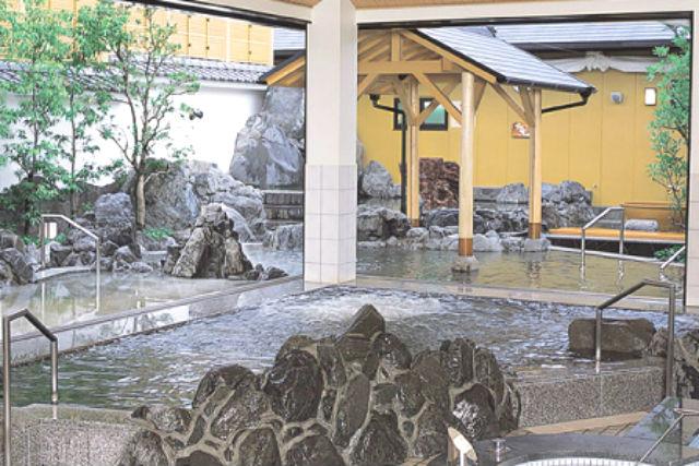 【土日祝・17%割引】湧出天然温泉 くつろぎの郷 湯楽 割引チケット(入浴料+レンタルタオルセット)