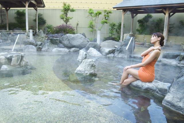 【小人】天然温泉コロナの湯 中川店 前売りチケット(入泉+健美効炉利用)