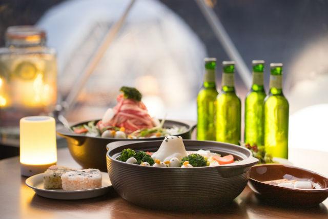 【500円割引】竜王スキーパーク KAMAKURA POT dining クーポン(鍋セット)