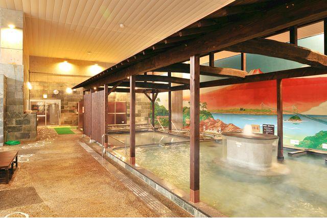 【休日・11%割引】伊予の湯治場 喜助の湯 クーポン(入浴料+レンタルタオルセット)