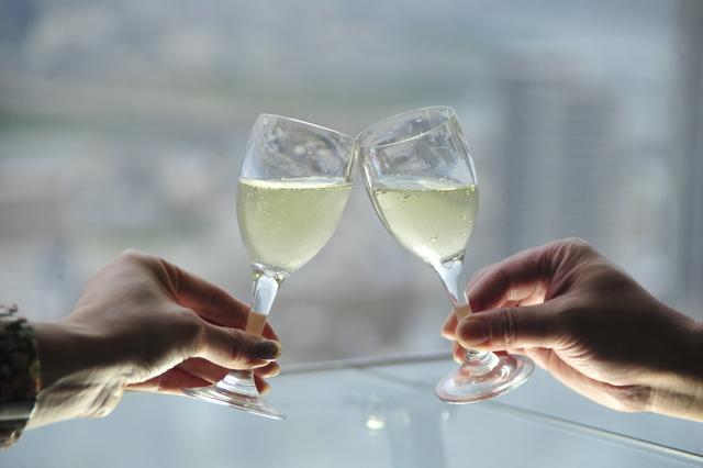 【再開記念】通常1,200円のスパークリングワインがなんと100円!空中庭園 ペア入場券セットプラン