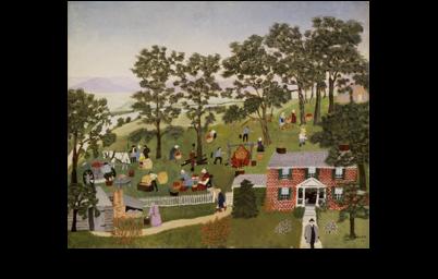 あべのハルカス美術館 生誕160年記念「グランマ・モーゼス展―素敵な100年人生」当日券